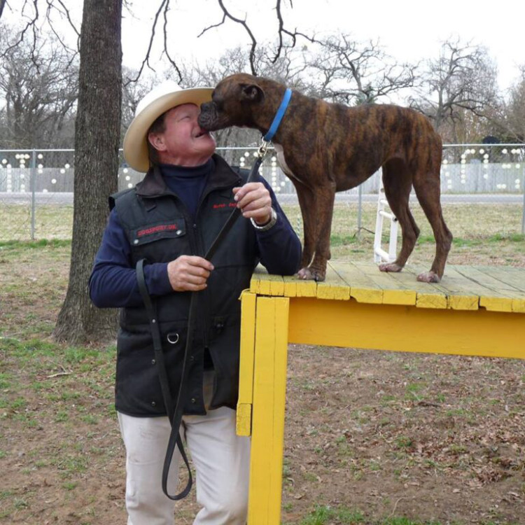 Butch Cappel with dog