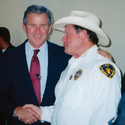 Butch Cappel with George W. Bush